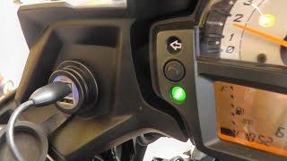 getlinkyoutube.com-Videoguida: Installazione porta USB su Kawasaki Versys 650 ABS 2015 2016