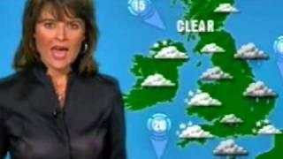 getlinkyoutube.com-Chrissie Reidy [ITV Weather] - See thru top & no bra.
