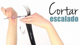 getlinkyoutube.com-Cómo cortar el cabello escalado a capas