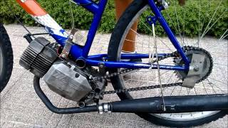 getlinkyoutube.com-Bici col Motore - Malaguti Snake