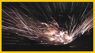 getlinkyoutube.com-BEYBLADE - with FIREWORKS Strapped to it -  Awesome!