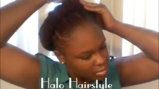 getlinkyoutube.com-Loc Tut   Halo Hairstyle   Inspired by SunKissAlba