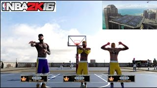 getlinkyoutube.com-NBA 2K16| New Rivet City Mypark! The KING IS HERE!! 3v3 Gameplay - Prettyboyfredo