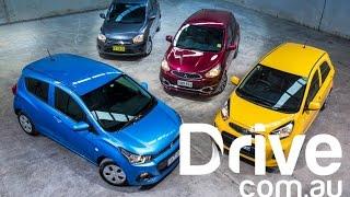 getlinkyoutube.com-Holden Spark v Kia Picanto v Suzuki Celerio v Mitsubishi Mirage | Drive.com.au