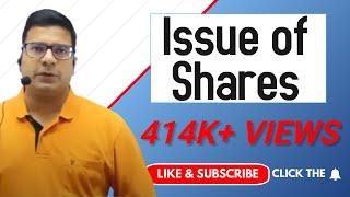 Issue of shares by Santosh kumar (CA/CMA)