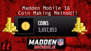 getlinkyoutube.com-Madden Mobile 16 - Coin Making Method!!