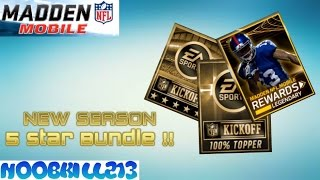 Madden Mobile New SEASON| 5 Star Bundle Opening!!