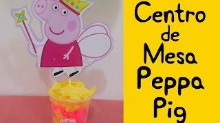 getlinkyoutube.com-Centro de mesa Peppa Pig (Peppa Pig Centerpiece)