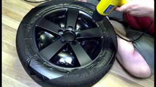 getlinkyoutube.com-DIY: Wrapping Rims in Matte Black Vinyl