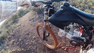 getlinkyoutube.com-Motoped ON OFF road Test by GuzMotoRacing