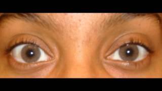 getlinkyoutube.com-Solotica Hidrocor Ocre Lens on Very Very Dark Eyes