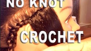 getlinkyoutube.com-CROCHET SEW IN WEAVE W/ KNOT-LESS (NO KNOT) TECHNIQUE🙎🏽🙆🏽