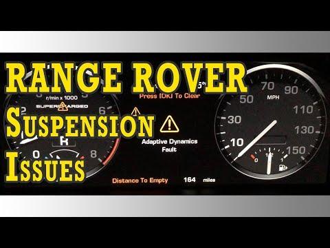 Range Rover Active Dynamics Fault and Air Struts