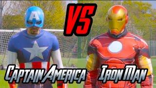 getlinkyoutube.com-CAPTAIN AMERICA VS IRON MAN | EPIC DUEL!!!