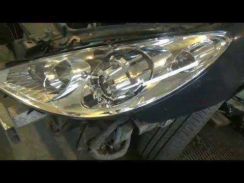 Как заменить фары и поменять все лампы. Peugeot 307.