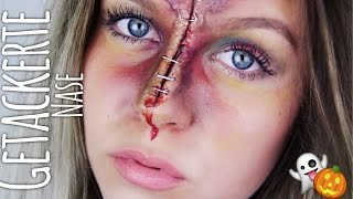 getlinkyoutube.com-Getackerte Nase - HALLOWEEN Make-up | Dagi Bee