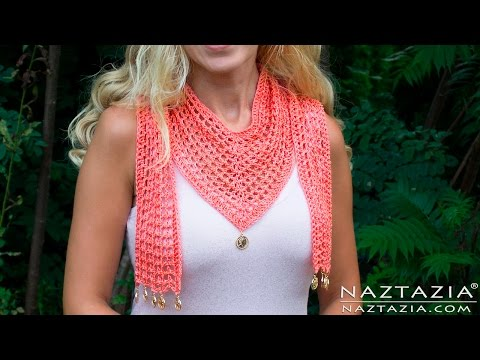 DIY Tutorial - How to Crochet The V Scarf