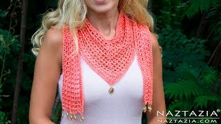 getlinkyoutube.com-DIY Tutorial - How to Crochet The V Scarf
