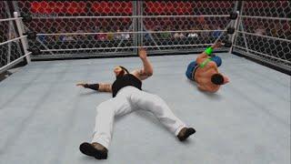 getlinkyoutube.com-WWE 2K15 - Bray Wyatt Vs. John Cena Steel Cage Match