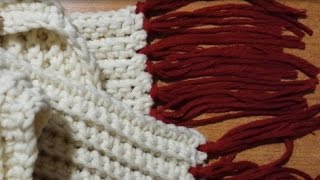 getlinkyoutube.com-Tutorial sciarpa a coste all'uncinetto - crochet scarf - bufanda del ganchillo