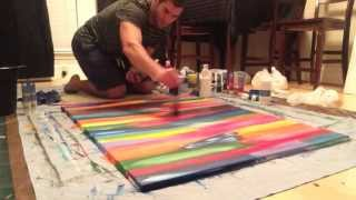 getlinkyoutube.com-Abstract / Modern Painting #2 Acrylic 3' x 4' DIY how to