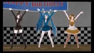 getlinkyoutube.com-Viva Happy [MMD X FNAF] (Bonnie, Freddy & Chica)