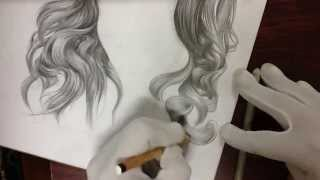 how to draw realistic hair with pencils