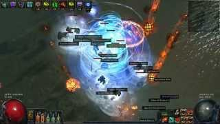 getlinkyoutube.com-Path Of Exile TH - Shadow - Cyclone - COC - Discharge