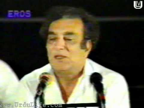 Ahmad Faraz reciting Urdu Poetry [Mehfil e mushaira]