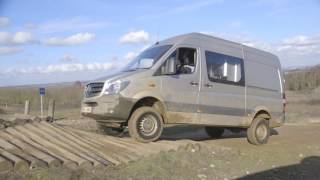 getlinkyoutube.com-The first test of the 4x4 Sprinter Van, off-road