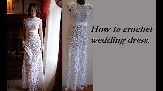 getlinkyoutube.com-HOW TO CROCHET WEDDING DRESS MOTIF FREE PATTERN TUTORIAL