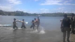 Ladrão se deu mal na praia do cristo em Ilhéus