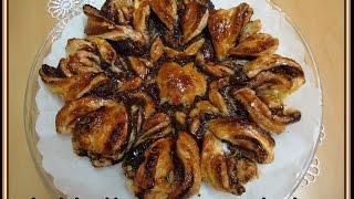 getlinkyoutube.com-Tarta Flor de hojaldre con chocolate, facilita y deliciosa