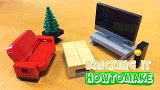 getlinkyoutube.com-How To Make a LEGO Modern Living Room (MOC, Basic, Reupload)