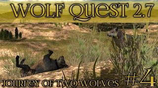 getlinkyoutube.com-A Timid and Curious Wolf || Wolf Quest 2.7 - Brothers Journey || Episode #4