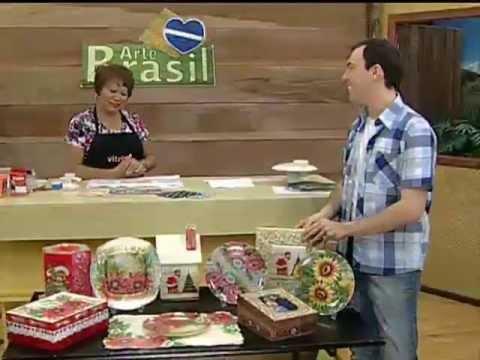 ARTE BRASIL - MAMIKO YAMASHITA - DÉCOUPAGE EM PRATO TRANSPARENTE (16/11/2011)