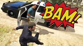 getlinkyoutube.com-I GOT ATTACKED!! (GTA 5 Let's Follow Cops!)