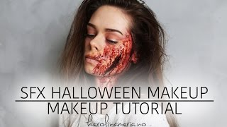 getlinkyoutube.com-SFX HALLOWEEN MAKEUP TUTORIAL