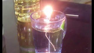 getlinkyoutube.com-طريقة عمل شمعة الماء التى لا تحترق بزيت الطعام