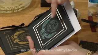 getlinkyoutube.com-Dawn Bibby - Dreamweaver Stencils, Gilding Flakes, Embossing & Crackle Pastes (In 3D HD)