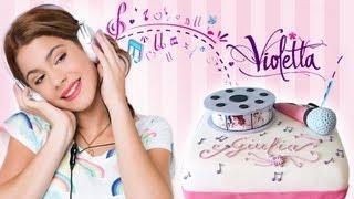 getlinkyoutube.com-Torta di compleanno di Violetta con pasta di zucchero