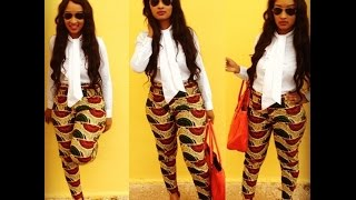 getlinkyoutube.com-DIY: Ankara Cigarette Pants