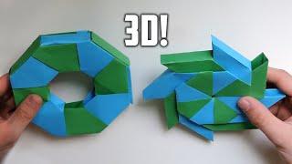 getlinkyoutube.com-3D Origami Transforming Ninja Star. (Instructions) (Ray Bolt)