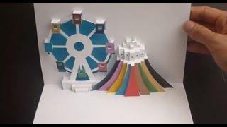 getlinkyoutube.com-Ferris Wheel Pop Up Card Tutorial, Origamic Architecture