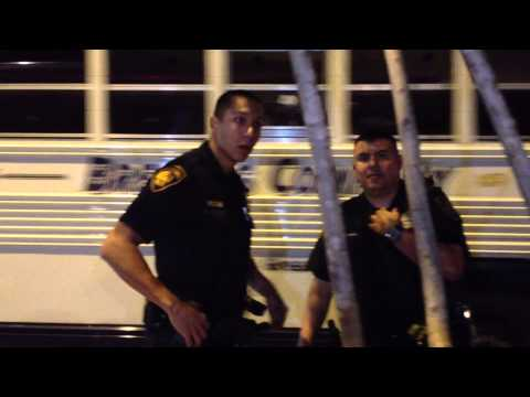 San Antonio Police Harass Activists Encouraging 3rd Party Votes • @WeAreChangeSA