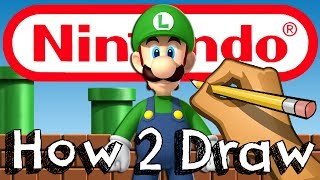 getlinkyoutube.com-How To Draw Luigi From Mario Bros   Drawing & Coloring & Learning