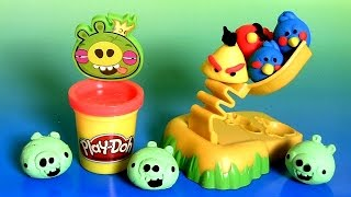getlinkyoutube.com-Play Doh Angry Birds Build 'n Smash Game From Rovio Unboxing PlayDough by FunToys