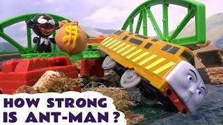 getlinkyoutube.com-Ant-Man Avengers Superheroes Accidents Thomas & Friends Play Doh - How Strong Is Antman ?