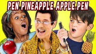getlinkyoutube.com-KIDS REACT TO PPAP Pen Pineapple Apple Pen