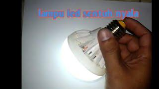 Cara Membuat Lampu LED 220 Jadi 9 Volt Sentuh   Buat Lampu Emergency